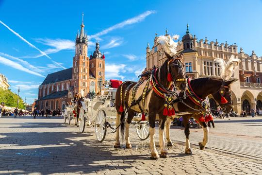 The Rynek Glowny in Krakow